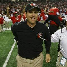Jim Harbaugh ha portato i 49ers laddove mancavano da 18 anni.