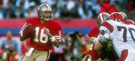Joe Montana, l'eroe dei Super Bowl per definizione...