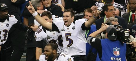 Joe Flacco, l'indiscusso MVP di questo incredibile Super Bowl !