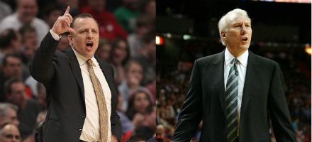 Tom Thibodeau e Gregg Popovich: 2 dei migliori allenatori della Lega