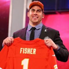Sarà Eric Fisher a proteggere Alex Smith a Kansas City.