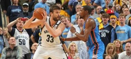 Paul Gasol contro Kevin Durant, l'infortunio a Westbrook sembra abbia allontanato ogni speranza di ritorno alle Finals per i Thunder