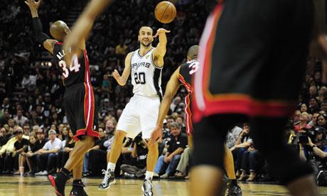 Manu Ginobili of the San Antonio Spurs
