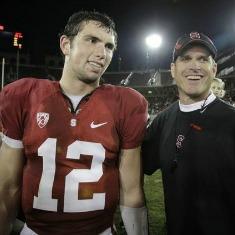 Luck e Harbaugh, due vecchie conoscenze di Stanford.