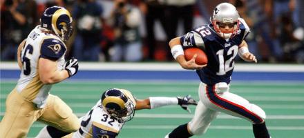 L'inizio della leggenda di Tom Brady e dei Patriots, la vittoria sui Rams nel Super Bowl XXXVI