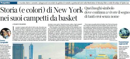 La pagina del Corriere della Sera dedicata ai playground di New York