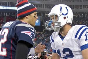 Tom Brady e Andrew Luck, prossimi protagonisti dell'AFC Championship