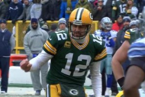 Aaron Rodgers intento alla chiamata del New York Bozo