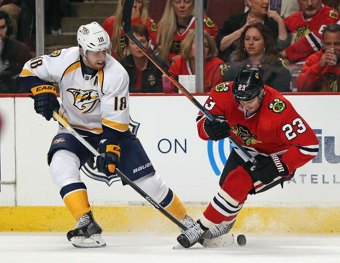 James Neal autore del gol del 2-1 Nsh@Chi Game 4