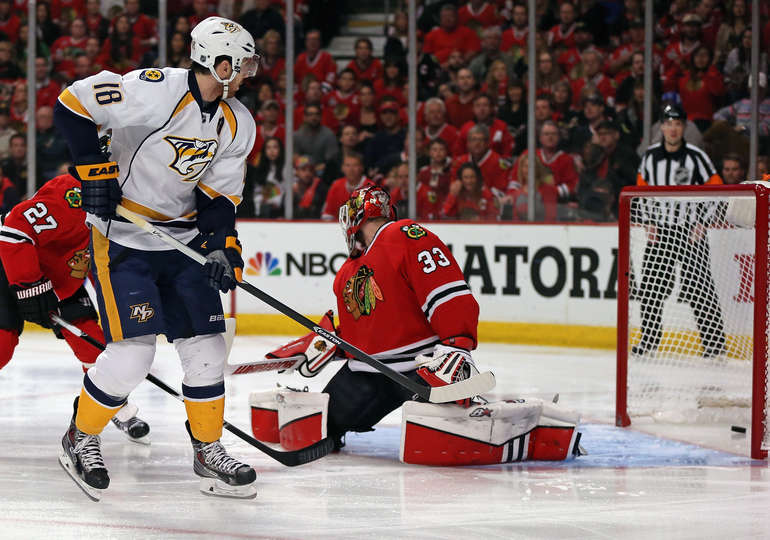 Il primo dei due goal di James Neal Nsh@Chi Game 6