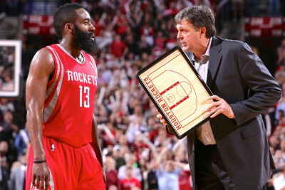 James Harden e Kevin McHale