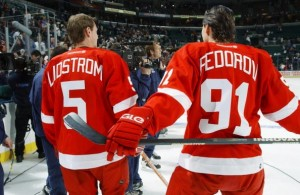 former-nhl-players-nicklas-lidstrom-and-sergei-fedorov