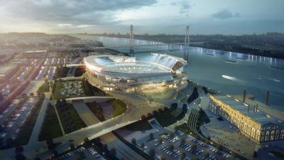Il progetto per il nuovo stadio di St. Louis.