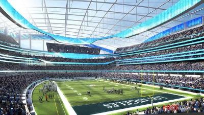 Lo stadio di Inglewood, la nuova casa dei Rams a partire dal 2019.