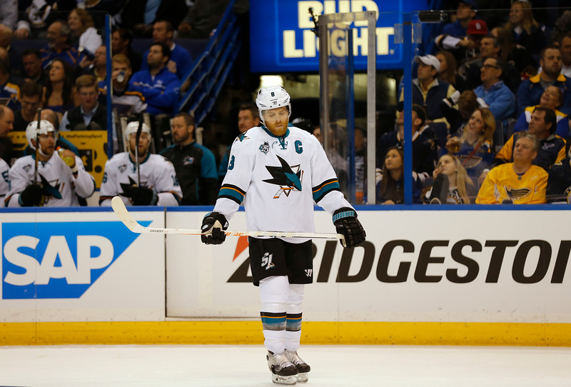 Tutta la frustrazione di Pavelski in Gara 1 (Josie Lepe/Bay Area News Group)