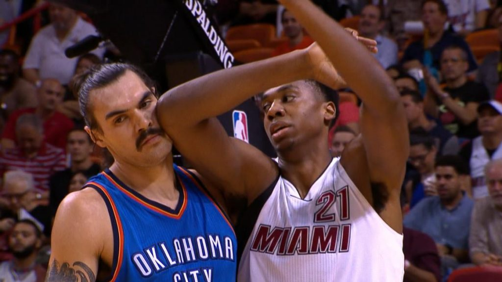 Steven Adams is not impressed