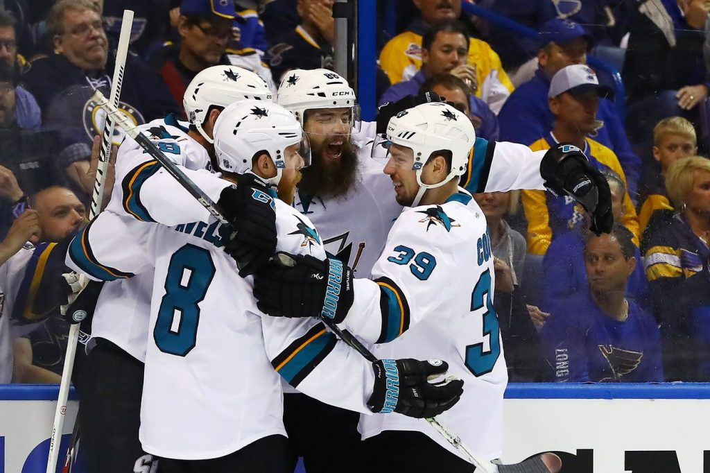 "Il ""barbudo"" è tornato!!! Due gol in PP per Brent Burns in Gara 2 a St.Louis"