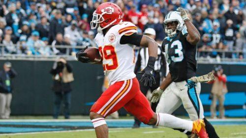 Eric Berry (numero 29) ha realizzato l'unico touchdown della partita di Kansas City.